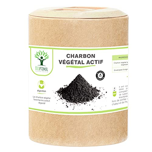 Charbon Végétal Actif - Bioptimal -...