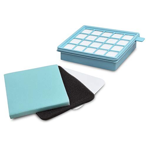 Abluftfilterkassette Ersatz für Philips 432200493801 Power Pro Active Power Pro Compact Hepa Filter Filterkassette für Staubsauger Bodenstaubsauger