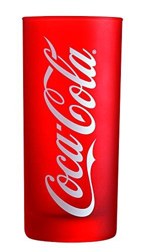 Luminarc ARC J0822 Coca-Cola Frozen Trinkglas, Wasserglas, Saftglas, 270ml, Glas, rot, 6 Stück
