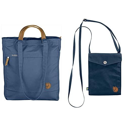 Fjällräven Totepack No. 1 Backpack, Blue Ridge, OneSize & Fjällräven Pocket Wallets And Small Bags, Navy, OneSize