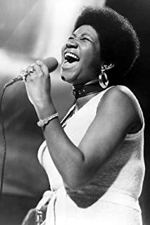 Aretha Franklin iconic singing 1970's 24x36 Poster