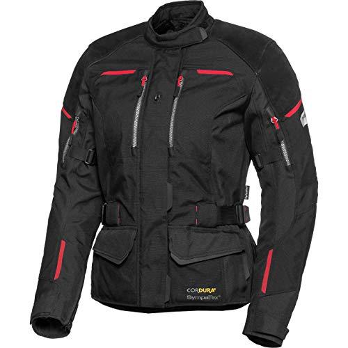 FLM Motorradjacke mit Protektoren Motorrad Jacke Touren Damen Leder-/Textiljacke 4.0 schwarz XS, Tourer, Ganzjährig, Leder/Textil