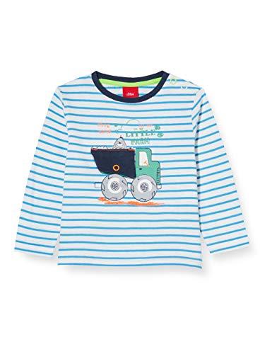 s.Oliver Junior 405.10.004.12.130.2019592 T-Shirt, Baby - Jungen, Grün 74 EU