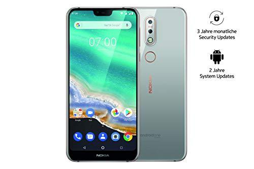 Nokia 7.1 Smartphone (15,38 cm (5,84 Zoll) Full HD Bildschirm, 32 GB interner Speicher, 3 GB RAM, Android 8.1, Dual Sim, inkl. Walther Schlüsselb&lampe) grau, exklusiv bei Amazon