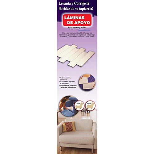 Set met 6 steunlijsten voor het repareren van banken of bedden. Afmetingen van de lamellen 48 x 10 cm. Ca. Kleur: wit.