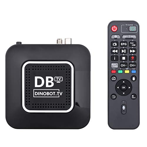 Dinobot U5mini Twin 4K UHD 2160p H.265 HEVC, E2 Linux/AndroidTV Dual Boot, 16 GB Flash 2 GB RAM, Gigabit LAN, 2.4/5 GHz Dual WiFi, Air Voice Mouse mando a distancia, sintonizador DVB-S2X sintonizador