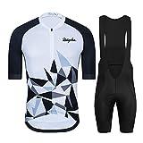 WPW Maillot de Ciclismo para Hombre, Ropa de Manga Corta para Bicicleta MTB de Equipo Profesional con Pantalones Cortos con Almohadilla de Gel 19D (Color : A, Talla : X-Small)
