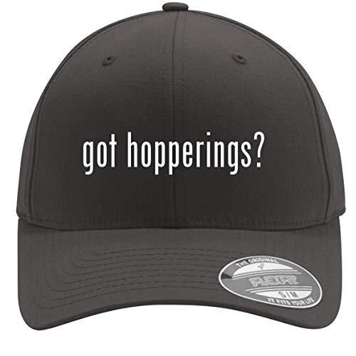 got Hopperings? - Adult Men's Flexfit Baseball Hat Cap, Dark Grey, Small/Medium