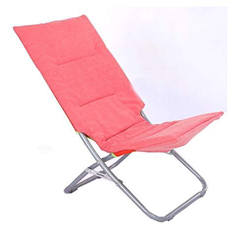 RENJUN Haushaltssessel Siesta Klappsessel Freizeitliege Einzelliege klein tragbar Outdoor Rücken Büro Klappstuhl Rose