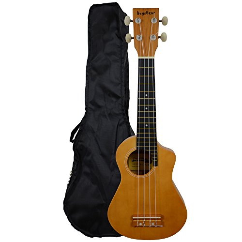 Bugs Gear SCG-UK11N - Ukelele (con funda), color beige
