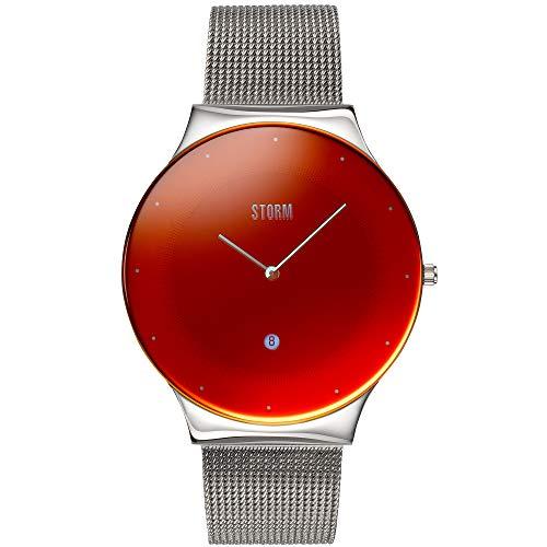 STORM London Terelo Red, Armbanduhr, Unisexuhr, Mineralglas, Edelstahlgehäuse, 3 bar Wasserdicht, Analoguhr, Datunsfunktion, 47391/R