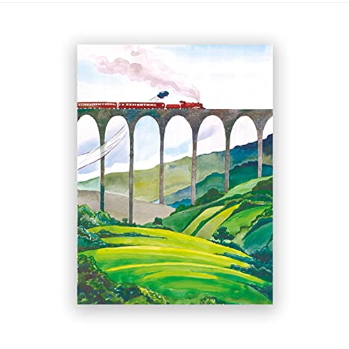 Leinwand Kunstwerk 50x70cm 1 Stück Harry Dekor Bild Leinwand Leinwand Schloss Schule Express Poster Kunstdrucke Kinder Schlafzimmer Magische Dekoration