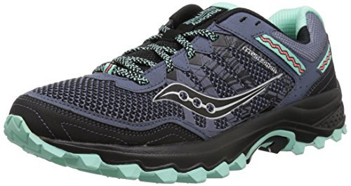Saucony Women's Excursion TR12 Sneaker, Aqua/Black, 8 M US