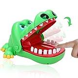 RENNICOCO Juego de Dedos de cocodrilo para morder Juguetes Divertidos para niños Niños Adultos Boca de cocodrilo Dentista para niños Adultos Lindos Boca de cocodrilo Dentista Juguete Color