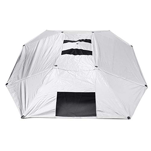 KENG Wasserdicht Zelt, Halbautomatische Wasserdicht Autodach-Zelt, beweglicher UV-Schutz Sonnenschutz Draussen (Color : Silver)