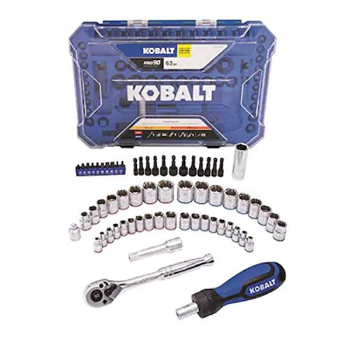 Kobalt 63-Piece Standard (SAE) and Metric Polished Chrome Mechanic's Tool Set