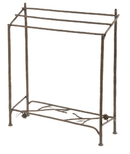 Amazing Deal Pine Blanket Stand-Hand Rubbed Brass
