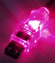 QVS 6-Feet 6-Pin FireWire/i.Link Translucent Lighted Cable with Purple LEDs (CC1394-06PRL)