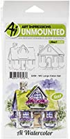Art Impressions Watercolor Cling Rubber Stamps -WC Large Cabin