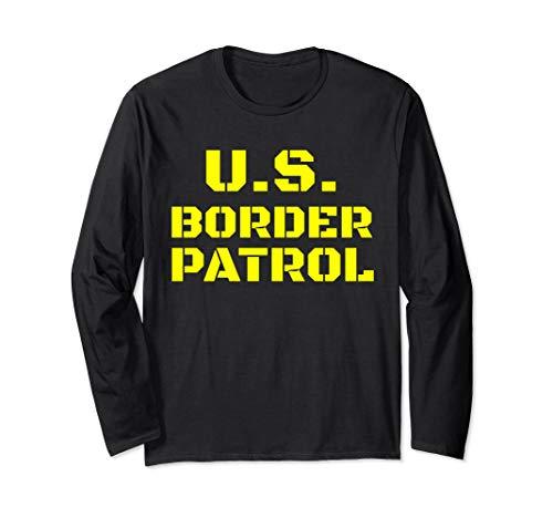 Halloween Border Patrol Immigration Enforcement Costumes Long Sleeve T-Shirt