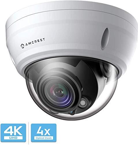 Amcrest UltraHD 4K Varifokal PoE Dome Outdoor Überwachungskamera, 4K (8MP) 3840x2160P, 164ft Nachtsicht, 4X optischer Zoom, motorisiertes Varifokalobjektiv 58 ° -110 °, Weiß (IP8M-2454EW)