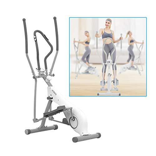 Cyclette Household Controllo Magnetico Mute Macchina ellittica Pedale contapassi Spazio da Jogging al Coperto Macchina camminatore Fitness (Color : Bianca, Size : 103.5 * 64 * 158cm)