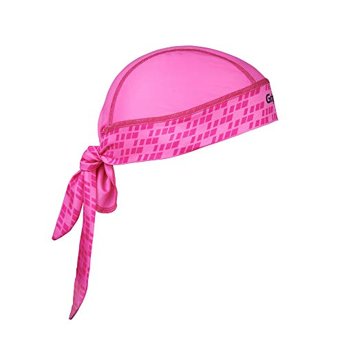 GripGrab Unisex– Erwachsene Bandana Multifunktionales Sommer Sport Kopftuch Dünne Leichte Unterhelm Fahrrad Schweißschutz UV Schutz Mütze, Pink, One Size (54-63 cm Kopfumfang)