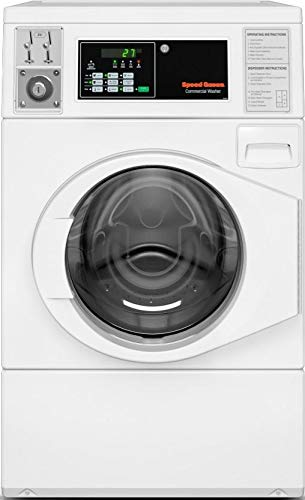 Speed Queen SFNNCASP115TW01 27' Commercial Front Load Washer with 3.42 cu. ft. Capacity, Quantum Control, in White