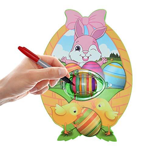 Watopi Huevo de Pascua DIY Juguete Eléctrico de Color Pluma y Huevo de Pascua Dibujo de Juguete Educativo para Niños Regalos de Fiesta de Pascua
