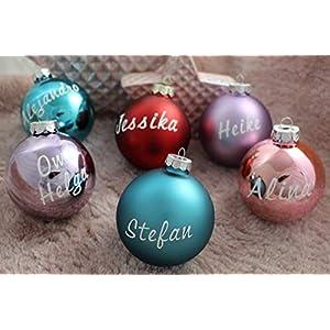 Weihnachtsbaumkugel in vielen Farben matt oder glänzend Baumkugel Weihnachtskugel Christbaumkugel mit Name…