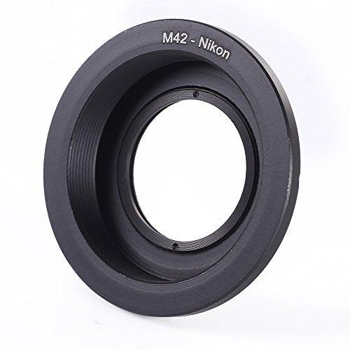 Fotga M42-AI - Anello adattatore per obiettivo con vetro per obiettivi M42 su fotocamera Nikon AI F D7200 D7100 D7000 D5500 D5300 D5200 D5100 D5000 D3300 D3200 D3100 D300. 0 D90 D80 D70 D60 D600 D610 D750 D800 D810.