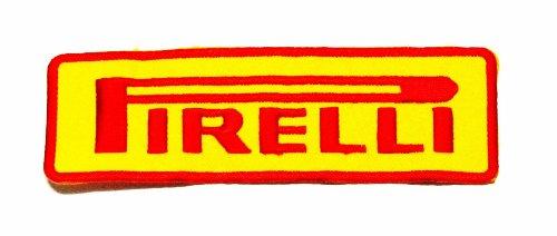 PIRELLI Banden Shirt Jacket Patch Geborduurd Naaien Ijzer op Logo (gele kleur)