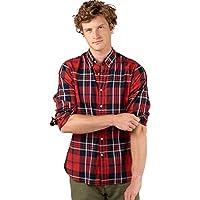 El Ganso Casual INTERSEASON Camisa, Rojo (Rojo 0044), Large para Hombre