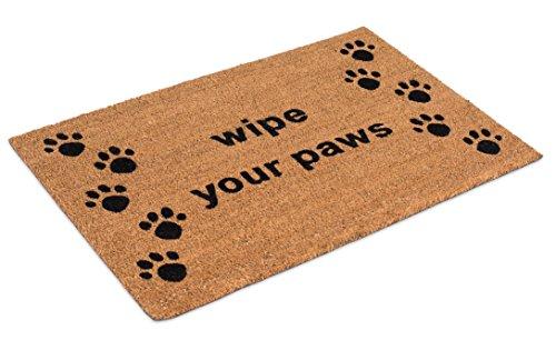 BirdRock Home 18 x 30 Wipe Your Paws Coir Doormat | Natural Fibers | Outdoor Doormat | Keeps your Floors Clean | Decorative Design | Dog Doormat