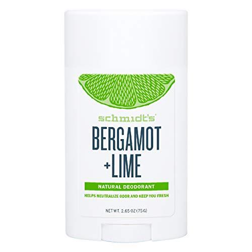 Schmidt's Déodorant d'Origine Naturelle Stick Signature Bergamote + Citron Vert, Efficace 24h, Testé Dermatologiquement, 75g