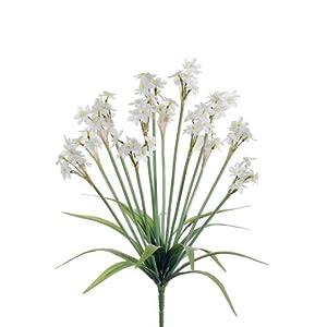 21″ Silk Daffodil Flower Bush -Cream/White (Pack of 12)