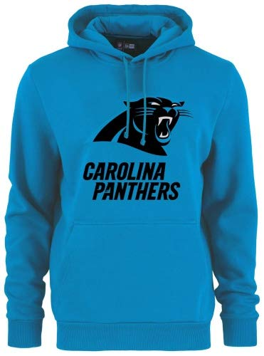 New Era - NFL Carolina Panthers Team Logo y Nombre Sudadera con Capucha Hoodie - Carolina Azul Color Carolina Blau, Tamaño 3XL