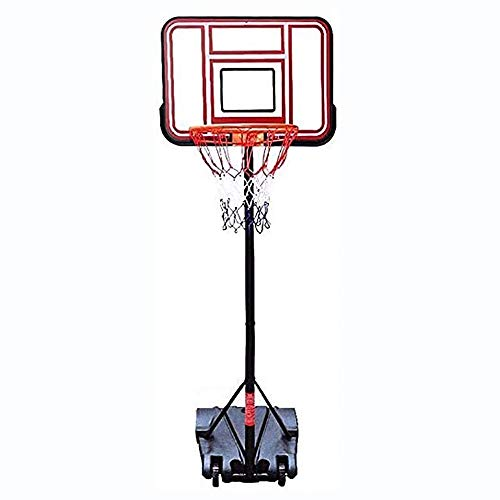 Outdoor Exercise Basketball Hoop Height Adjustable 150-200cm with 2 Wheels Portable Kids Basketball Stand Adult Teens The Best Choice for Outdoor Training