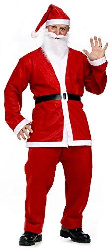 KiraKira Traje de Traje de Santa, Traje de Santa, papá Noel Disfraz, Traje de Navidad para Adultos con Chaqueta,...