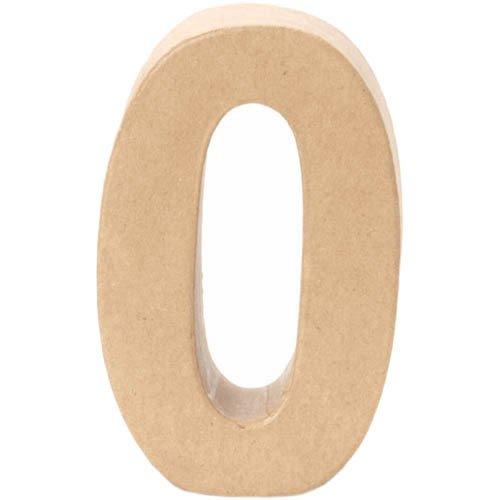 Papp-Zahl 0, 17,5x5,5cm [Spielzeug]