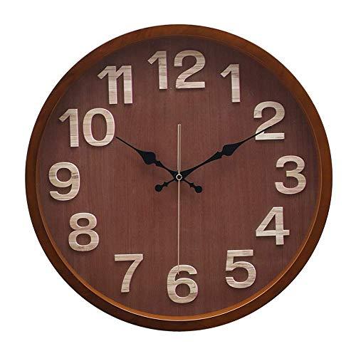 AIOJY Reloj De Pared Silencio Y Sin Tictac Reloj De Pared De Cuarzo Moderno 16 Pulgadas Apagado por Batería Digital Sleep Sweep Office Decor Relojes, Cubierta De Vidrio