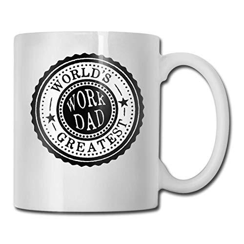 Taza de café divertida de cerámica ultra blanca del papá del trabajo más grande del mundo Taza corta Taza de la marca Taza de café única de Oz del café