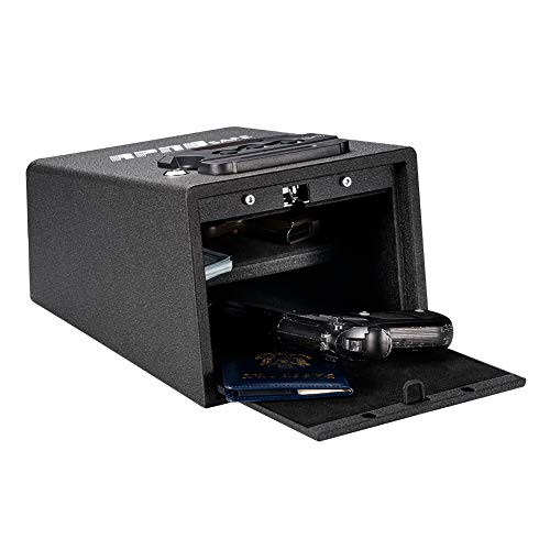 RPNB Quick-Access Firearm Safety Device, Gun Safe with Digital Key Pad & RFID, for Securely Storing Firearms, Valuables, Documents