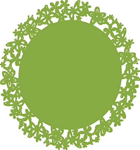 RITUALI DOMESTICI - Marcadores de mesa con mariposas, diámetro de 37 cm, verde.