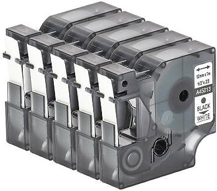 19mm Beschriftungsband RHINO6000 Schwarz auf Gelb 3 19 mm breit 5mtr. Schriftband-Kassette Gelb f/ür Dymo RHINO 6000 ID1 Flexibel Nylon