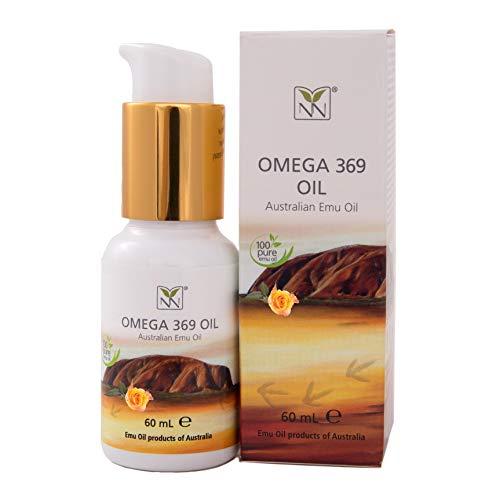 Huile d'émeu 100 % pure de qualité pharmaceutique infusée avec une toile de rose (mélange d'huiles naturelles) (60 ml)