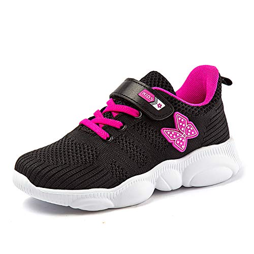 Ork Tree Kinder Sneaker Schuhe Turnschuhe Mädchen Hallenschuhe Jungen Sportschuhe Klettverschluss Kinderschuhe Laufschuhe,Violett B,33 EU
