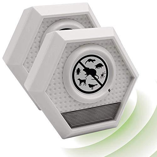ISOTRONIC Mäusevertreiber Blitz Nagetier Vertreiber mit Ultraschall, Abwehr gegen Mäuse und Ratten, elektrisch, Tiervertreiber, wasserdicht