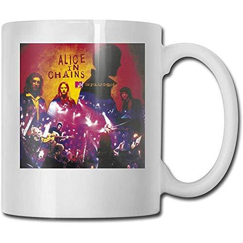 Alice In Chains Unplugged Beste Geschenkideen zum Vatertag für Kaffeetassen Lustige Weihnachtsgeschenkbecher Persönlichkeit Trinkbecher 11 Unzen (330 ml)
