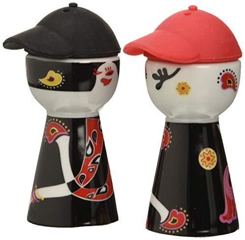 Lebrun 9100702 - Saliera e pepiera in Porcellana a Forma di Persona con Cappellino